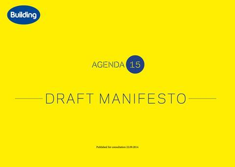 Agenda 15 draft manifesto cover