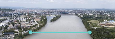 Site of New Danube Bridge