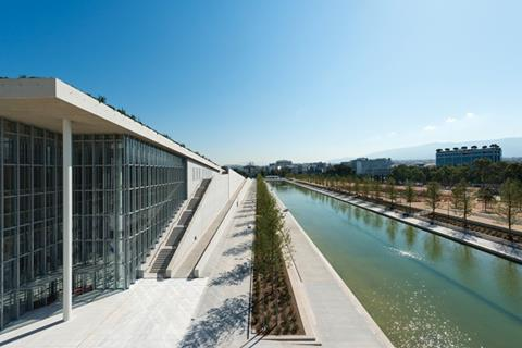 A new esplanade and canal extend alongside the SNFCC