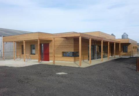 Passivhaus school, teaching and visitors centre at Hadlow College in Kent