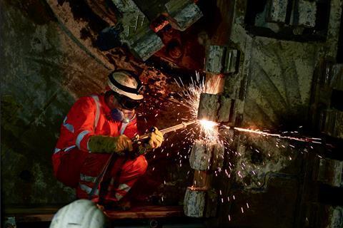 Crossrail dismantling