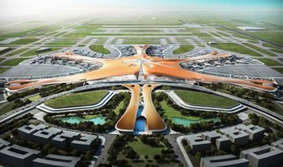 Zaha Hadid Architects' concept design for the first terminal at Beijing's new Daxing airport