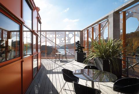 The roof terraces provide dramatic panoramic views of Lyon