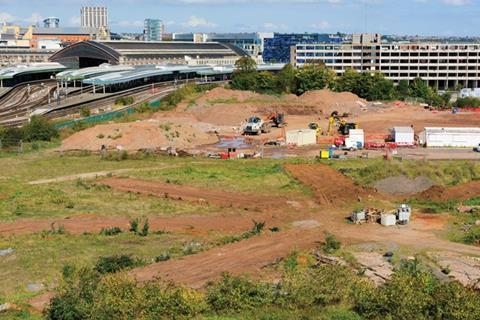 The site of Bristol Arena, due to open in 2018, which is being built by Bouygues