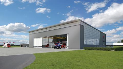 Helicopter hangar - Balfour Beatty