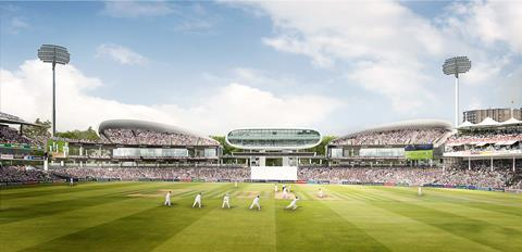 Compton and Edrich masterplan - pitch view - by Wilkinson Eyre