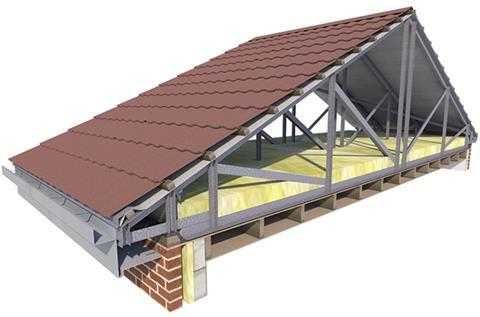 In a self-supporting structure, the trusses span the full width of the building, transferring loads directly to the perimeter walls