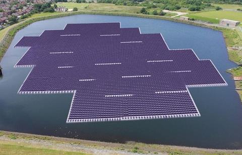 United Utilities floating solar farm