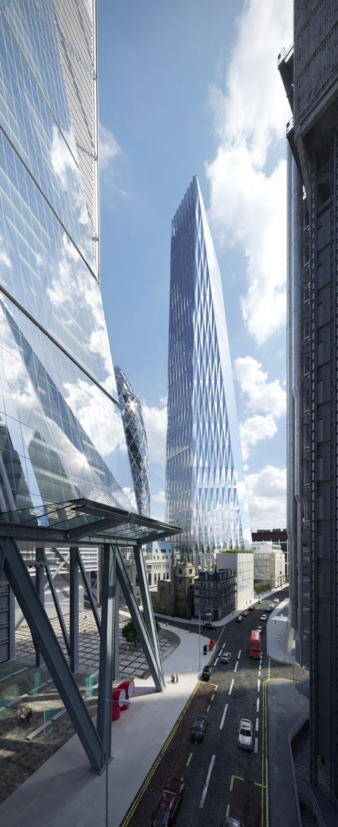 Som city of london tower elevated leadenhall view