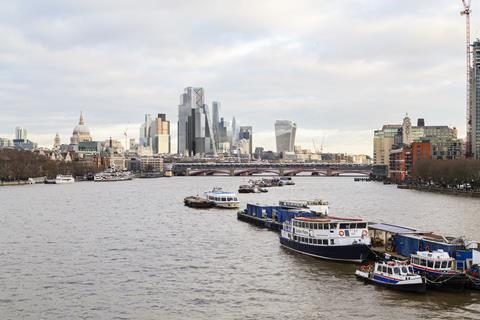 Som city of london tower view from waterloo bridge