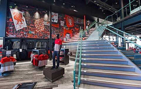 Liverpool FC retail store Anfield Stadium