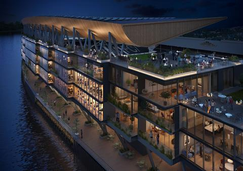 Populous' proposed Riverside Stand at Fulham's Craven Cottage