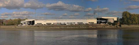 Fulham FC's existing Riverside Stand