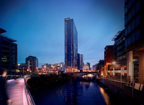 Manchester riverside flats CGI