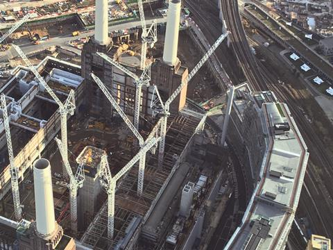 Battersea power station aerial site