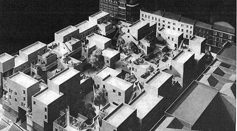 Model of Parliament Square 1977
