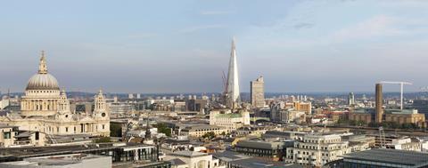 the shard london skyline