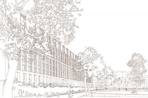 Cartwright Gardfens sketch by Joseph Little at Maccreanor Lavington Architects