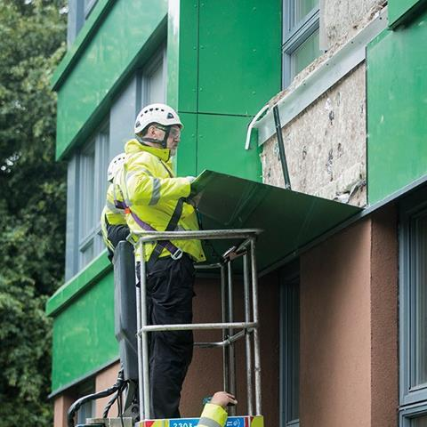 Cladding is removed from Hanover tower block in Sheffield