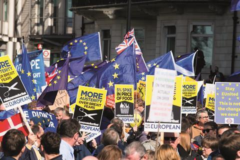 Eu flags brexit shutterstock 619942652