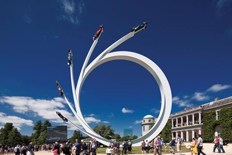 Five Ages of Ecclestone sculpture at Goodwood Festival