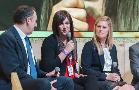 UKCW - Christina Riley speaking as part of the diversity panel at UKCW - 11 October 2017 (credit UKCW)