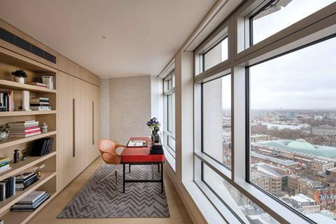 Centre point tower, living area, 3 bed apartment â© luke hayes