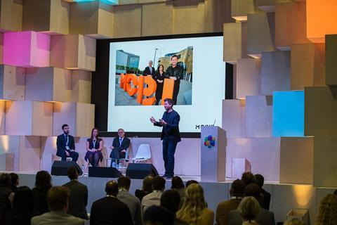 UKCW - George Clarke speaking at UKCW - 10 October 2017 (Credit UKCW)