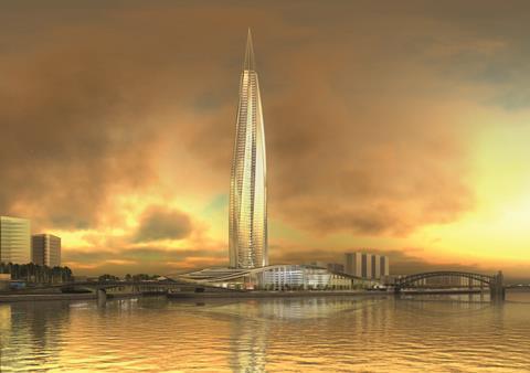 4. St Petersburg Gazprom Tower