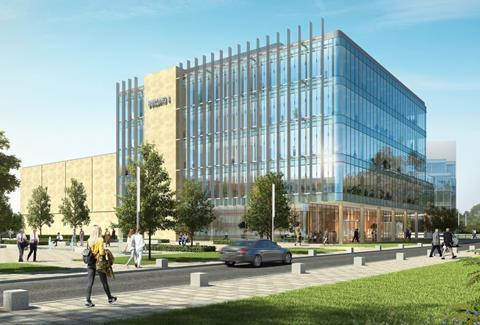 Illustrative design for the new Pebble Mill medical building