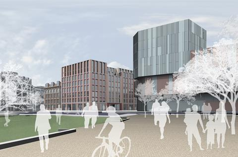AHMM's Belfast Telegraph project - The Sixth - View from Cathedral Gardens