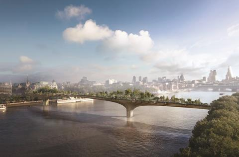 Garden bridge view d credit arup
