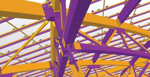 Tekla-Structures-louis-vuitton-Example-of-a-3D-frame-model
