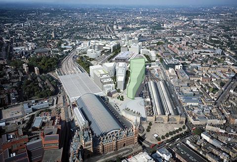 Google HQ Kings Cross aerial