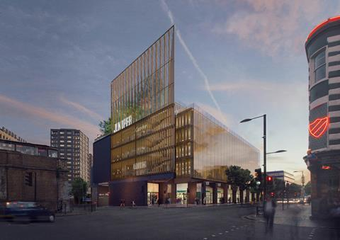 Camden Goods Yard petrol filling station - Niall McLaughlin Architects