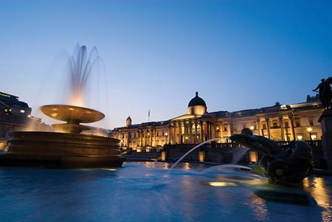 Contrioversially, the plumes of the world-famous Trafalgar Square fountains have now been significantly reduced from this height to minimise water evaporation