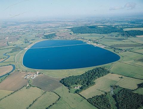 Farmoor reservoir in Oxfordshire