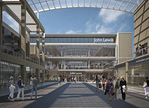 John Lewis store Westgate shopping centre Oxford