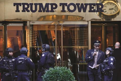 NYPD guard Trump Tower