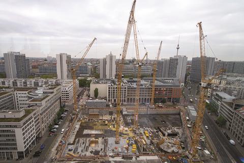 Axel Springer building foundations