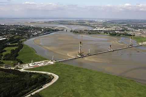 The existing bridge over the Mersey (in the background) will be refurbished as part of the project