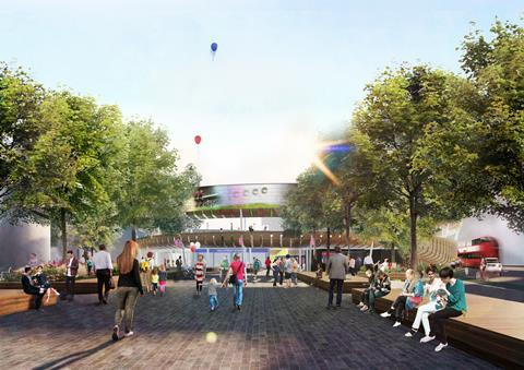 Nicholas Hare Architects' Old Street Park proposal