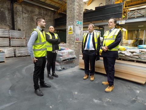 Mark Field MP visits Pimlico timber yard