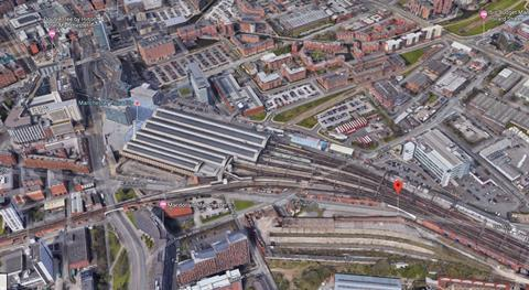 Aerial view of the Manchester Piccadilly regeneration framework area