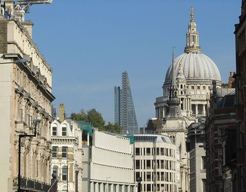 The Leadenhall Building is now visible in the famous vista of St Paul's from Fleet Street
