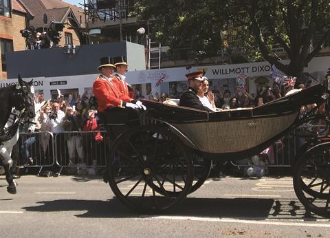 Royal Wedding and signage - cropped