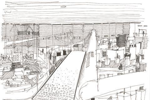 Sainsburys Centre sketch by Rich Bassett
