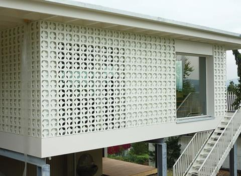 Medite Tricoya Extreme used for exterior screen panelling