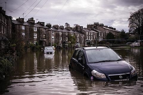 Cars in flood