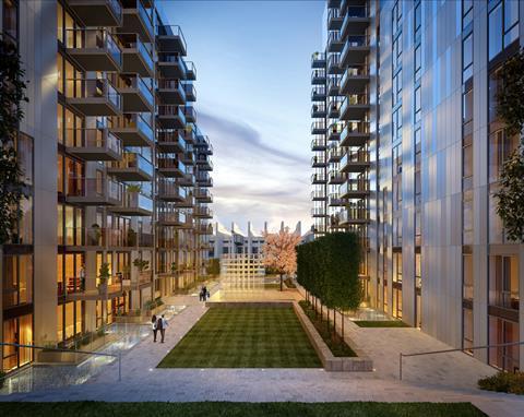 Alto.wembley park external 2 courtyard dusk rev g